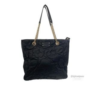 Kate Spade Black Quilted Nylon ToteEUC